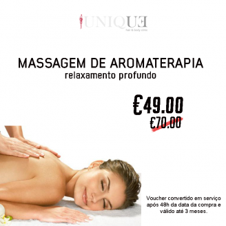 Voucher Massagem Aromaterapia