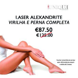 Laser Alexandrite Virilha e perna completa