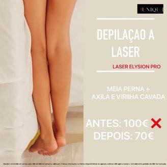 Laser Elysion-pro mulher - Meia perna + Axila e Virilha cavada