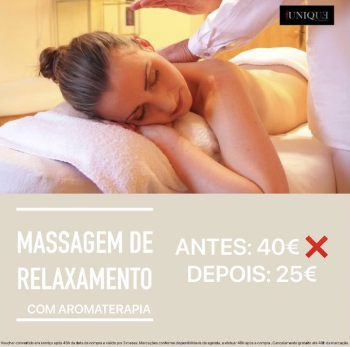 Massagem Relaxamento com Aromaterapia